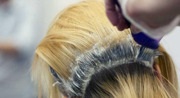 bleaching hair